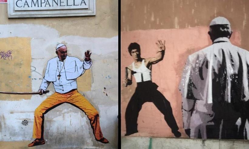 Murales Papa