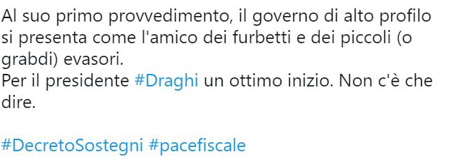 Draghi divide Twitter